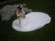 Продается свадебное платье со шлейфом, ручная работа